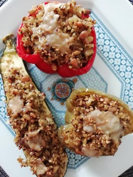 Légumes farcis au quinoa
