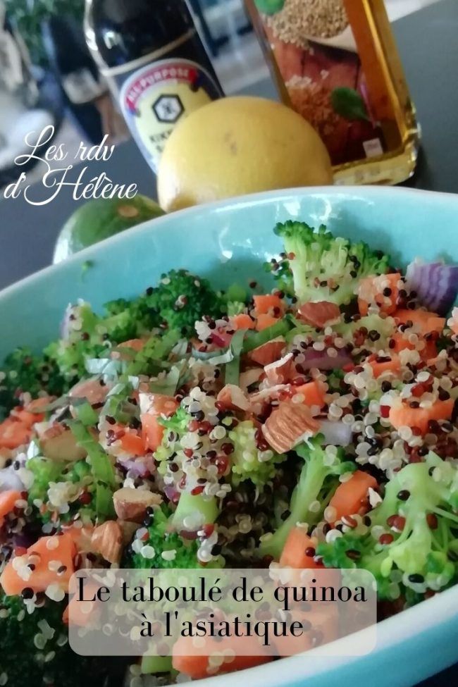 Taboulé de quinoa à l'asiatique
