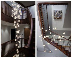 l'eclairage d'un escalier