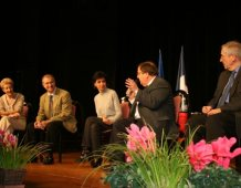 Soirée-débat avec Rachida DATI, le Député André SCHNEIDER et le Député Jean-Philippe MAURER  à BISCHHEIM, 17 décembre 2009