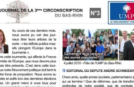 Journal de la 3ème circonscription UMP du Bas-Rhin – N°3