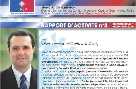 1ère Circonscription du Bas-Rhin : Rapport d'activité de l'UMP