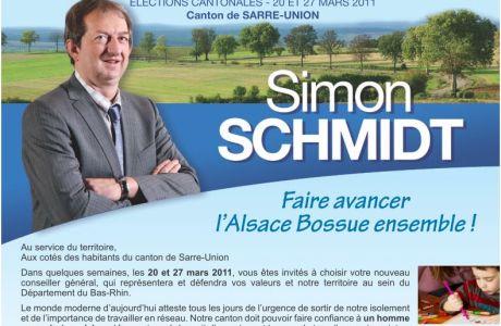 Simon SCHMIDT : «Mes priorités pour le canton de Sarre-Union»