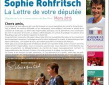 La Lettre d'information parlementaire de Sophie ROHFRITSCH – mars 2015