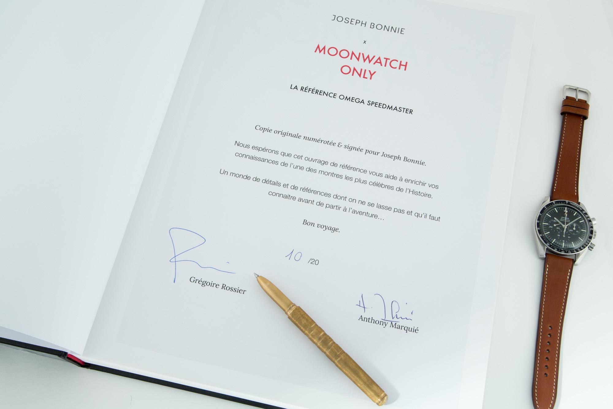 Moonwatch only - Copie signée et numérotée