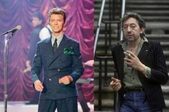 Icones de style Husbands - David Bowie et Serge Gainsbourg