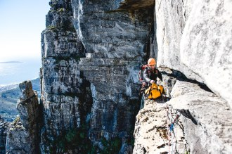 Mike Horn - African expedition. Climbing the Table mountain.