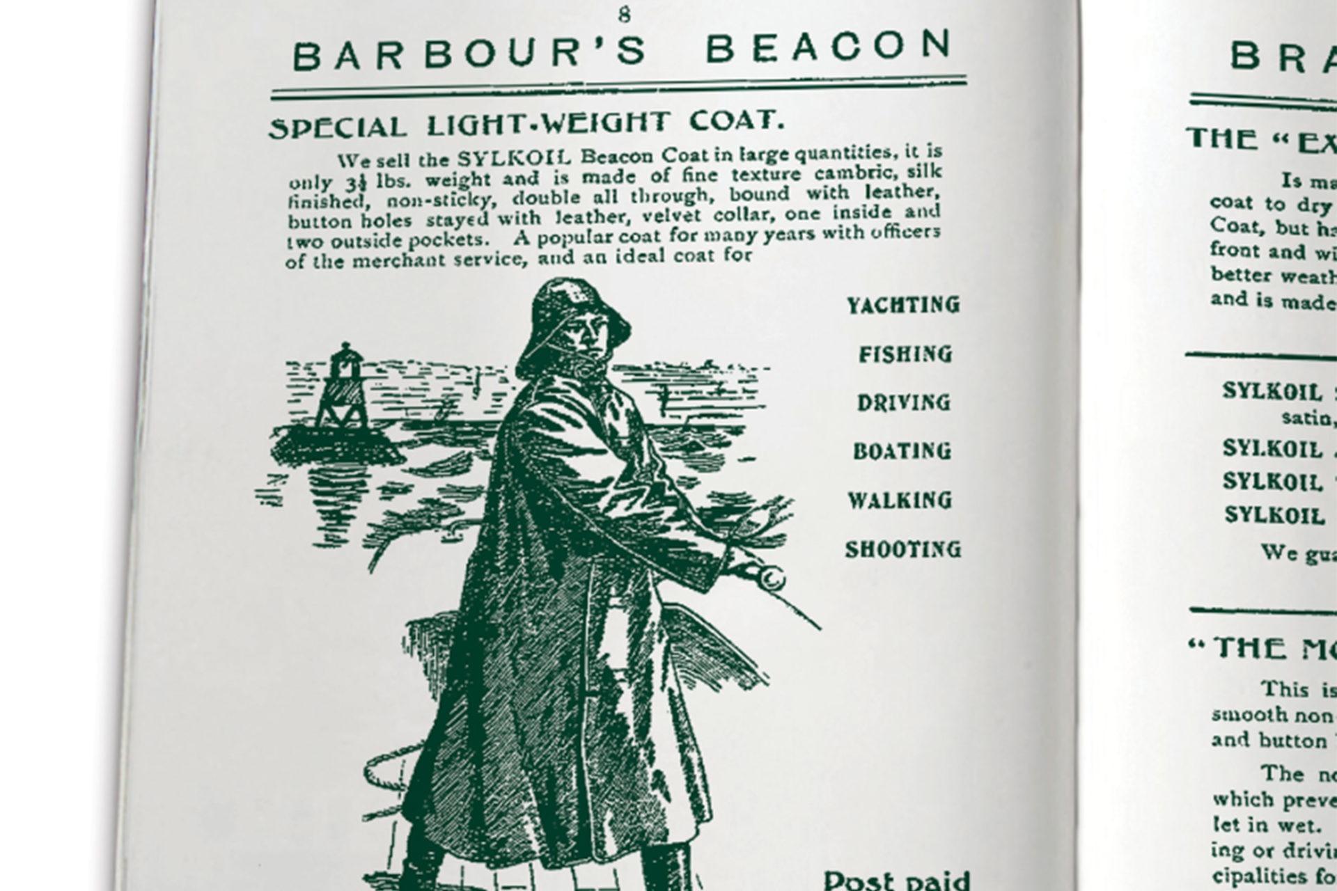 Barbour - Premier catalogue de vente