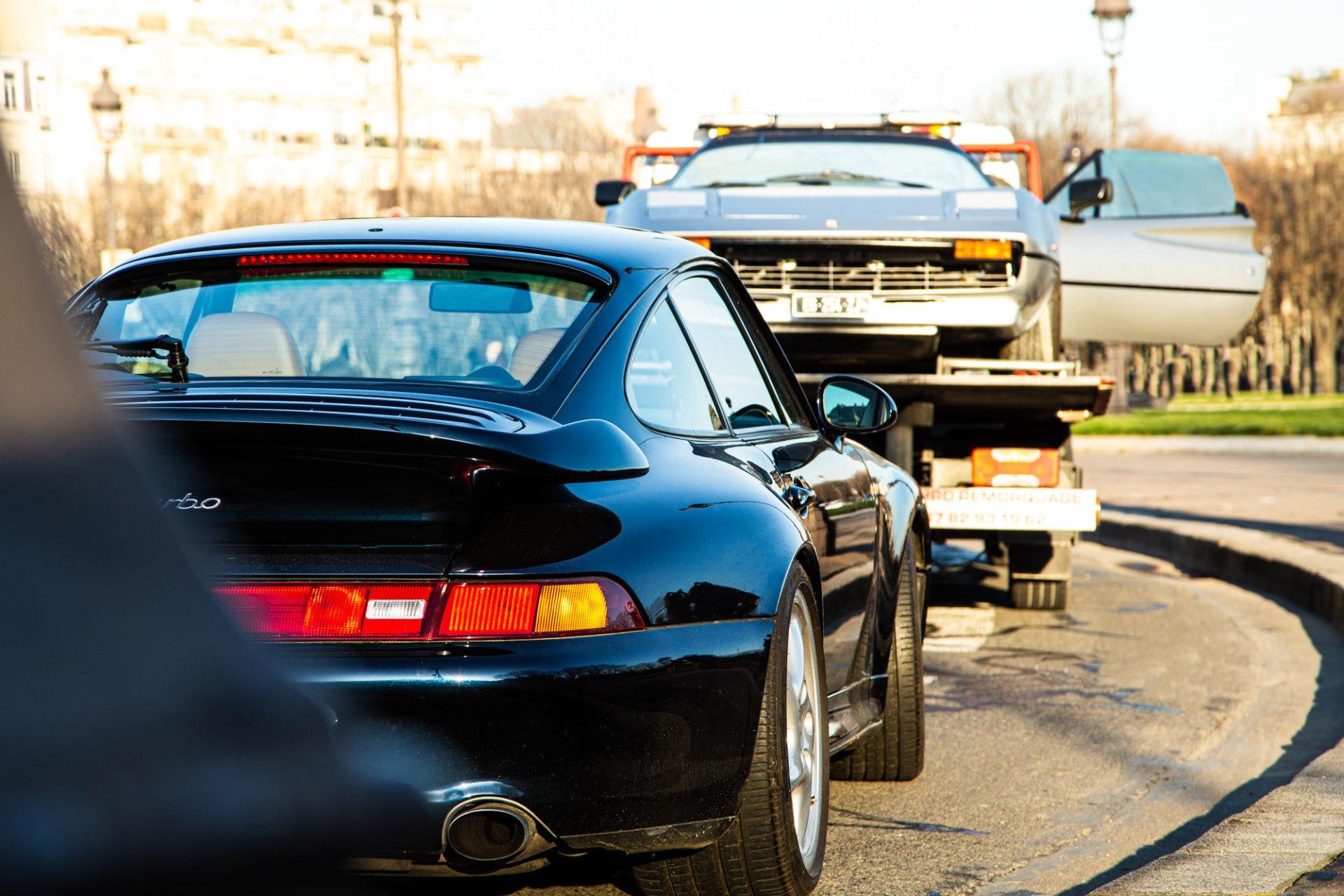 Porsche 911 Type 993 Turbo et Ferrari 308 GTS