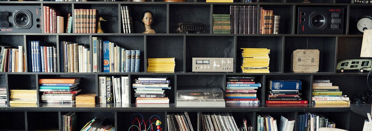less stuff cluttered shelves of joy