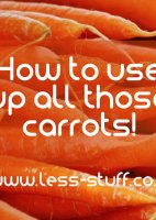 how to use up all those carrots