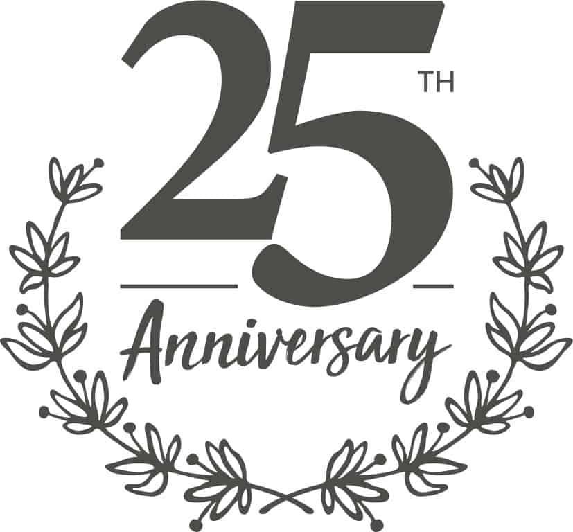 Clarks Village 25 years badge