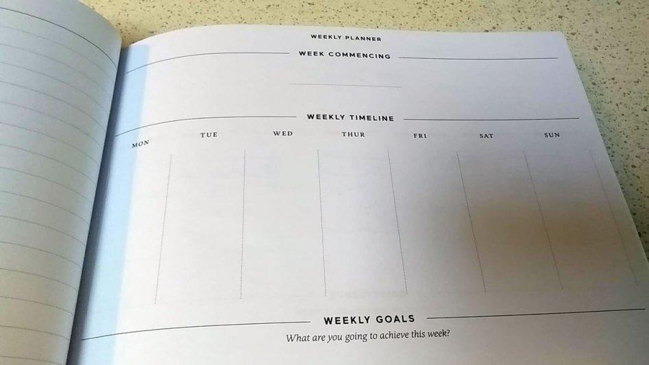 weekly goals effici