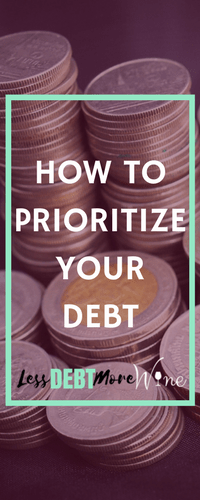 When your faced with a mountain of debt it can be hard to figure out where to start. This post is great in helping you to prioritize your debt