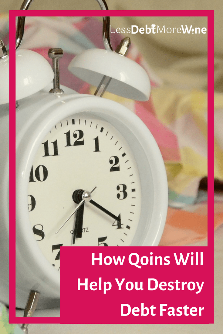 Qoins works by connecting your bank account and then you decide how you want it to gather money for your extra debt payment.