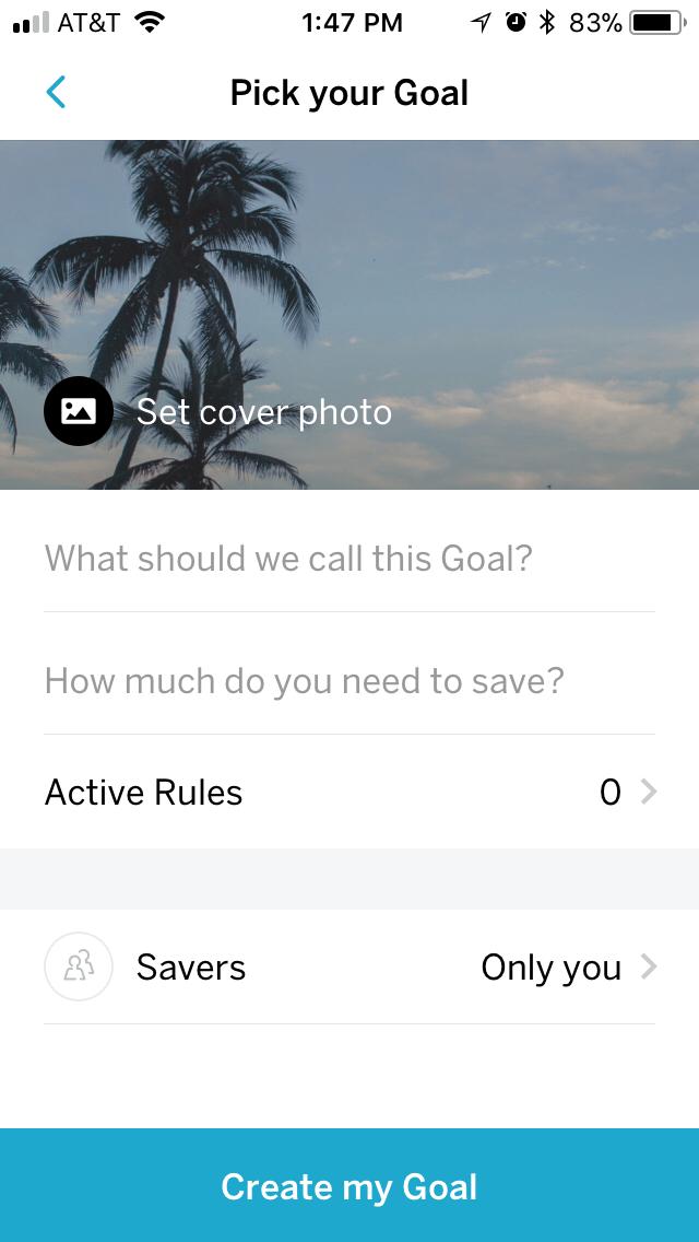 Qapital name your goal