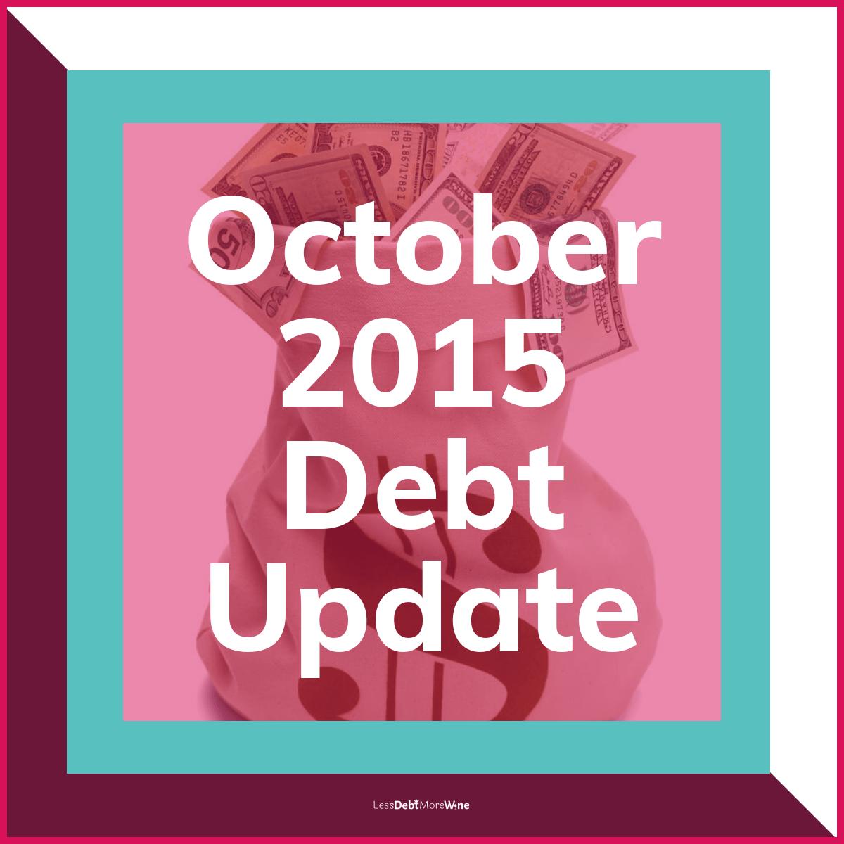 October 2015 Debt Update, debt payoff progress
