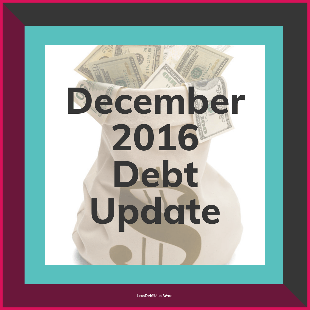December 2016 debt update, debt payoff progress