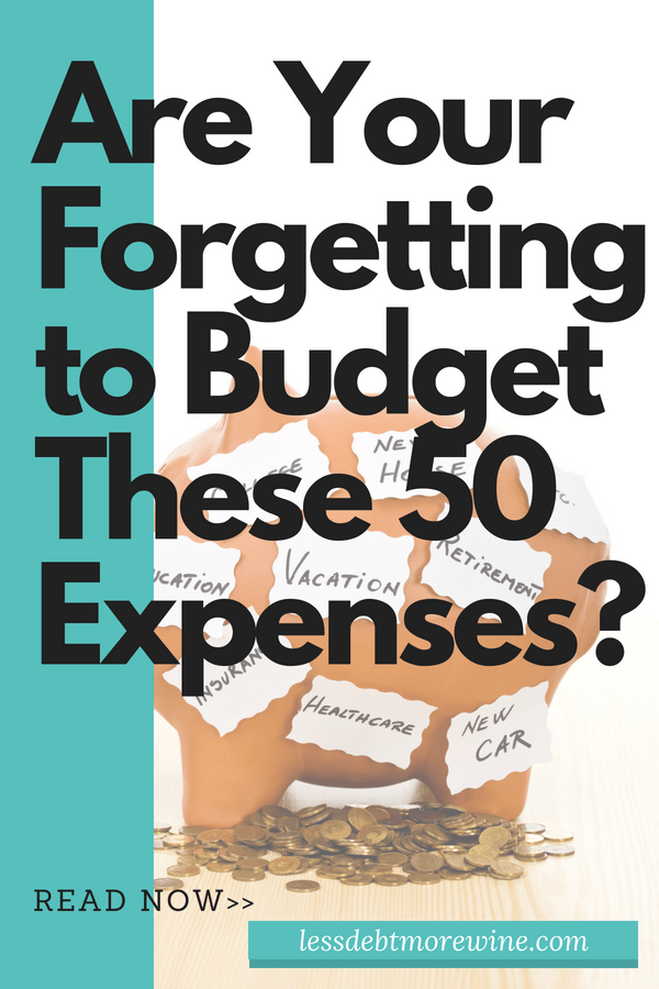 The hardest part of budgeting is remembering to budget for everything. Make sure you budget for these expenses, remembering these 50 expenses will make sure your finances stay on track, go check them out now!