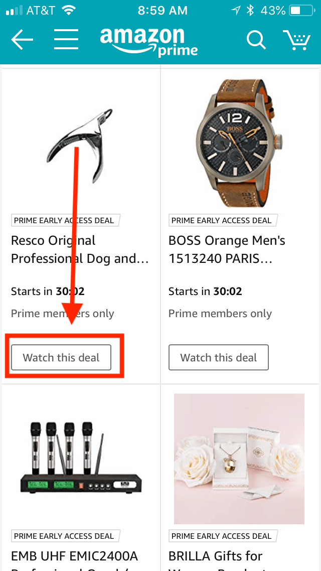 Amazon app watch this deal