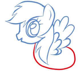 как рисовать пони радугу шаг 7