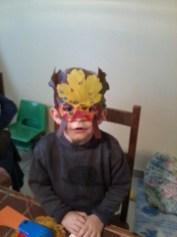 masque en feuille