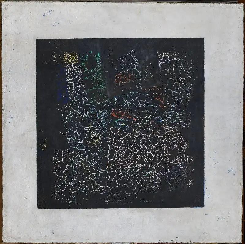 Gli strati di pittura di The Black Square trovati dagli esperti della Galleria Tretyakov
