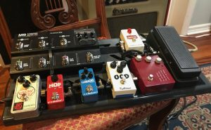 pix of guitar dirt pedals on Rick's Pedal Board - Jan 2018