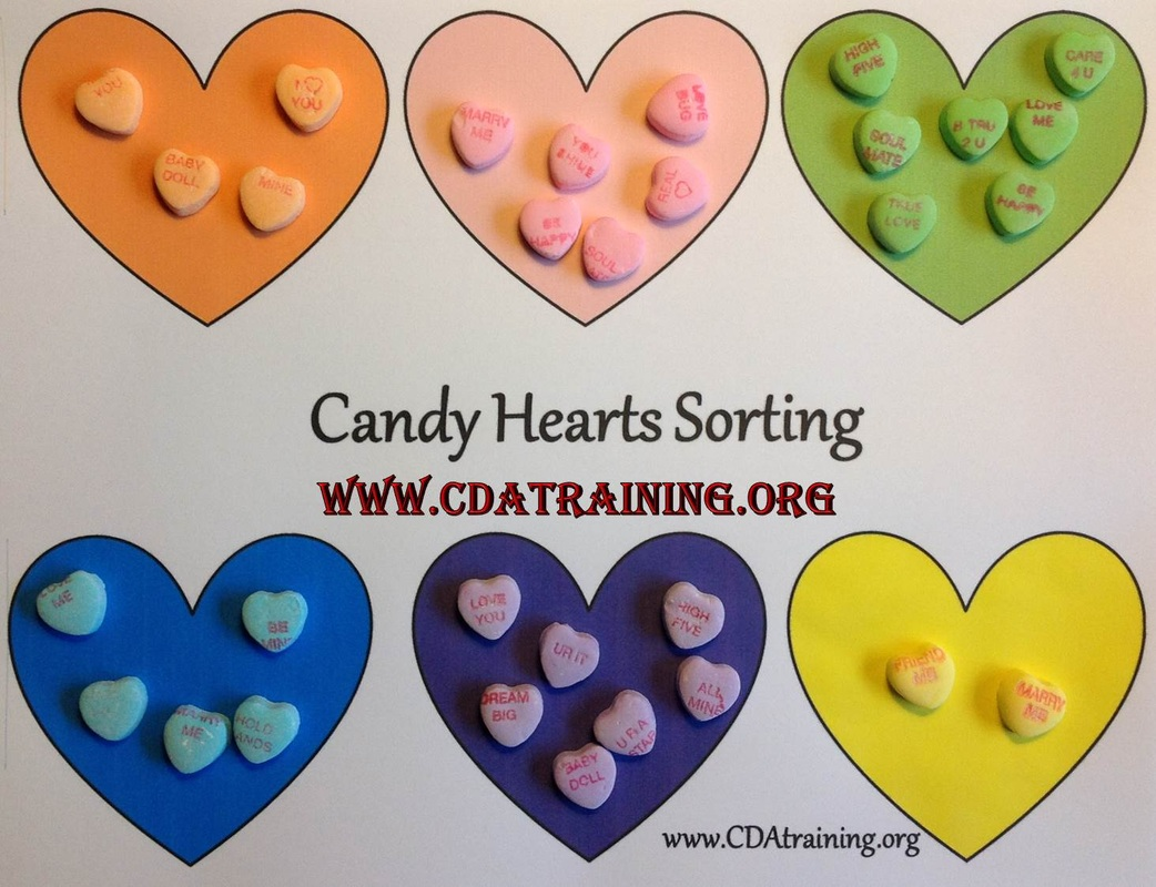 Candy Hearts Sorting