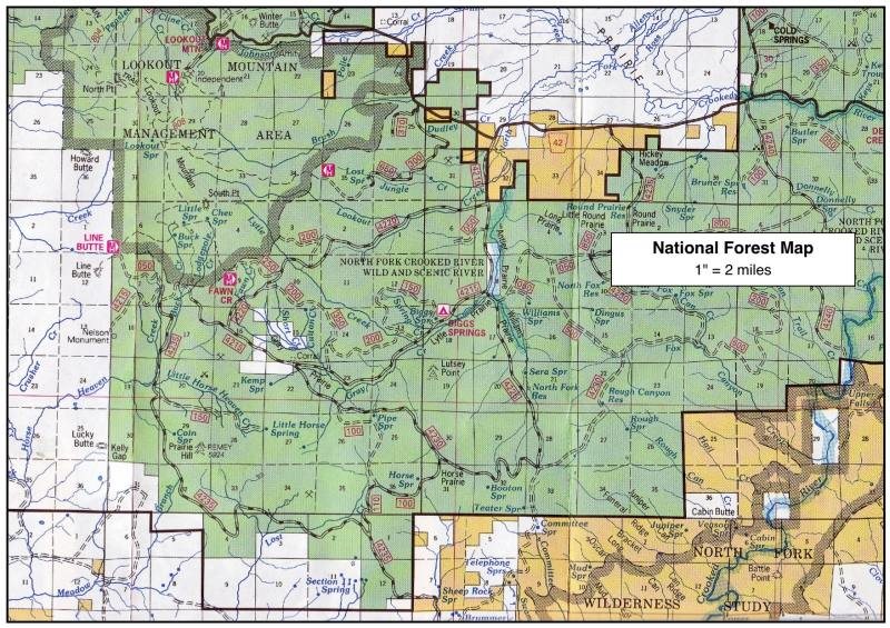 Map Resources for Backcountry Travel Sample National Forest Map