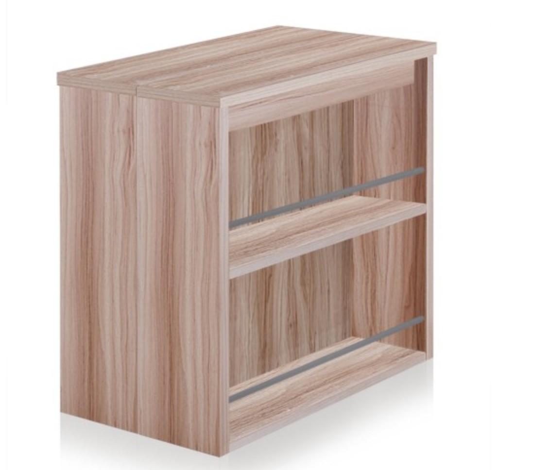 console extensible avec rangement bois chene clair kazia 40 190 cm