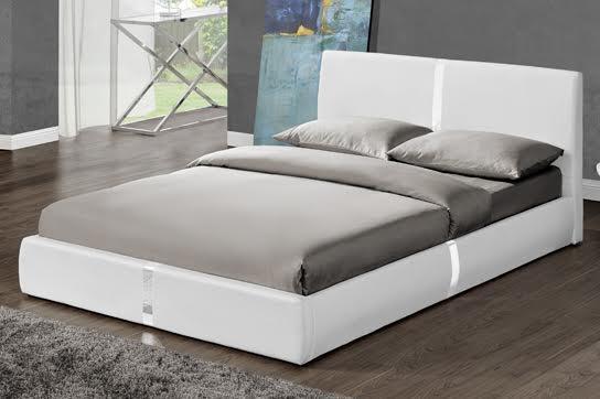 Lit Design Blanc Musty 140 Cm LesTendancesfr