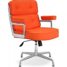 fauteuil de bureau simili orange konfor