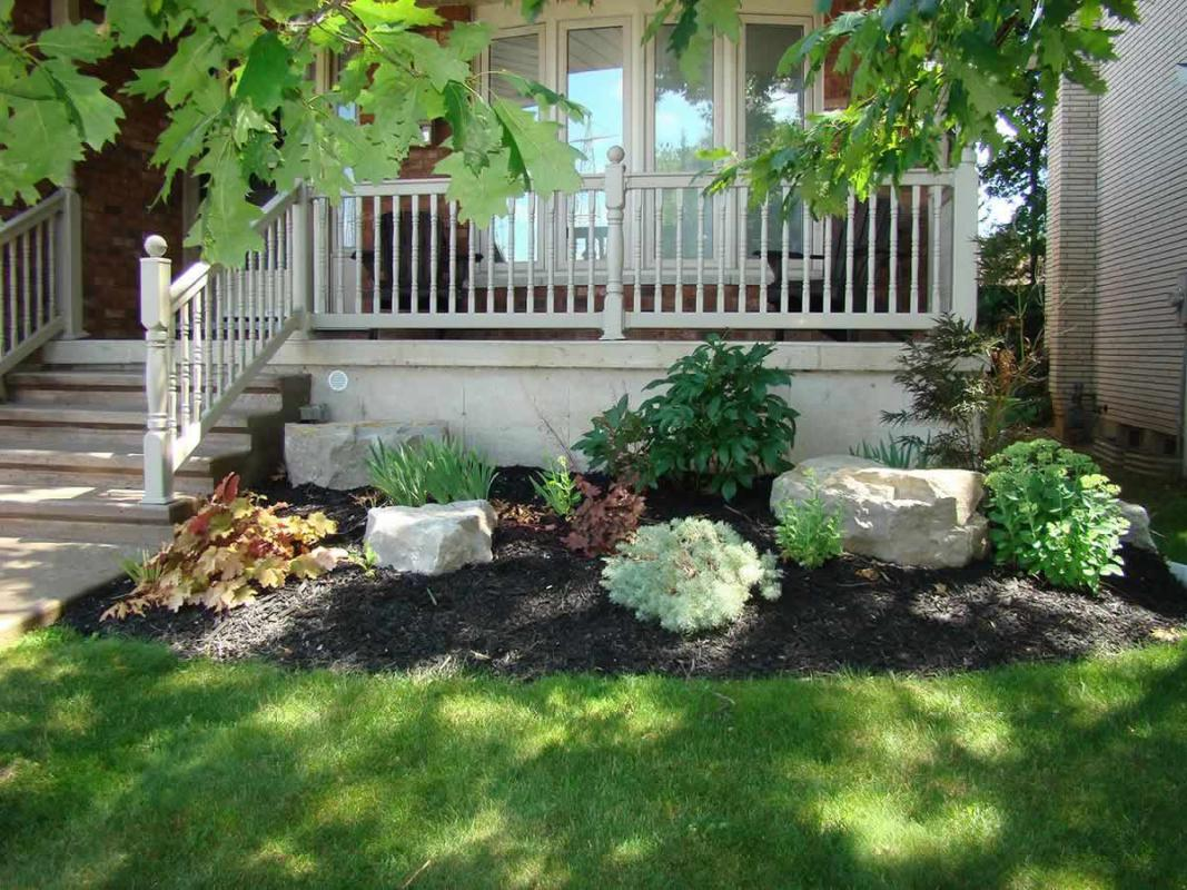 Armour Stone Landscaping Photo Gallery | Lester Contracting on Rocks In Backyard  id=68264