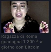 Ragazza di Roma guadagna 1.300 € al giorno con Bitcoin