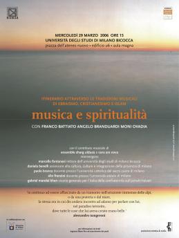 Locandina Musica e spiritualità