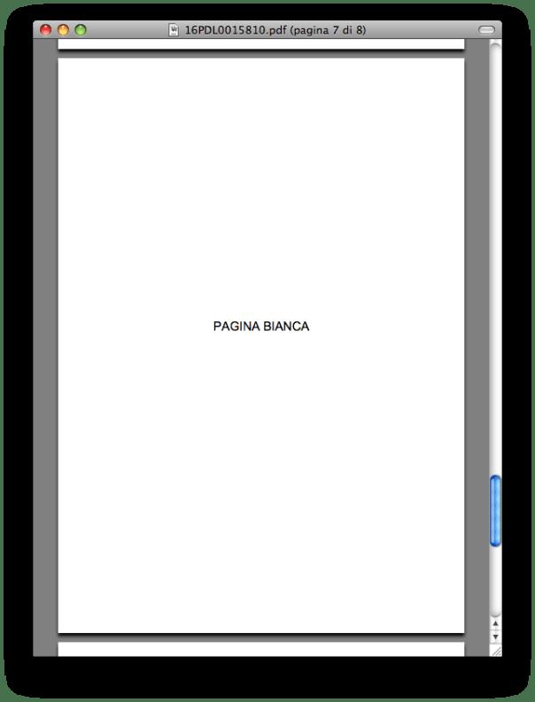 pagina bianca