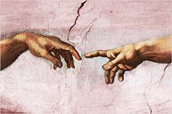 Michelangelo, La creazione dell'uomo: due persone ma non due uomini