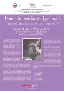 """Donne in poesia: stati generali"", a cura di Maria Pia Quintavalla."