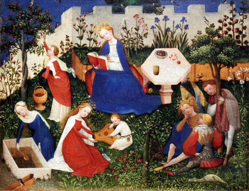 peinture médiévale Paradiesgärtlein