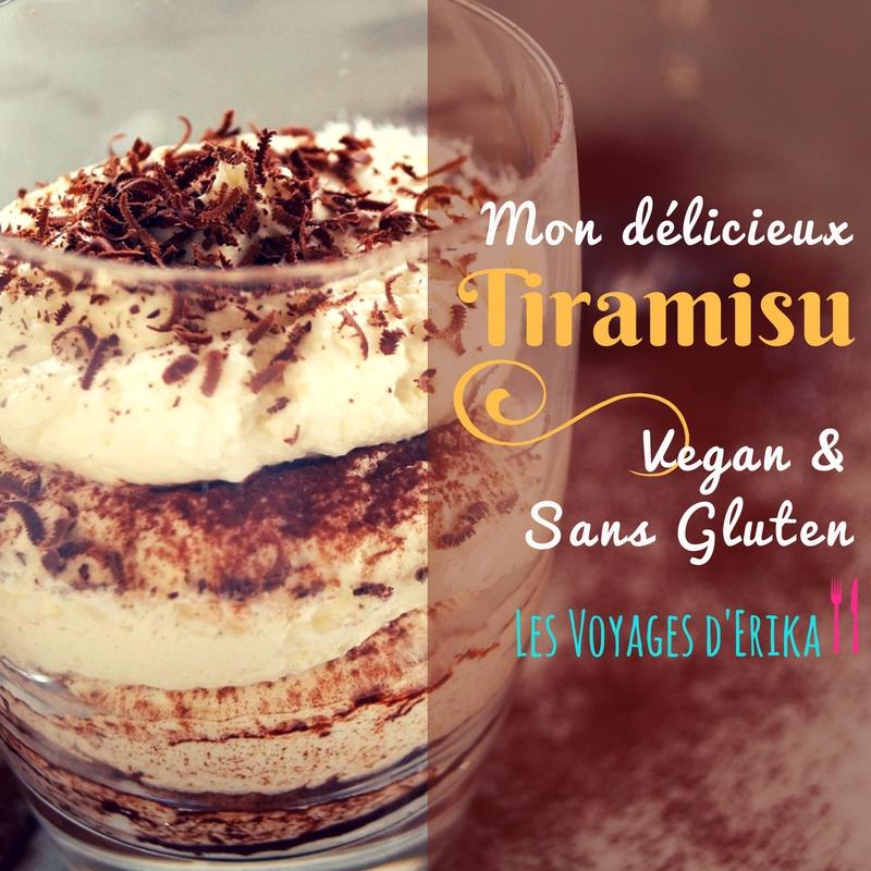 Mon délicieux Tiramisu vegan et sans gluten !