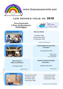 Planning Les Yeux Ouverts 2018