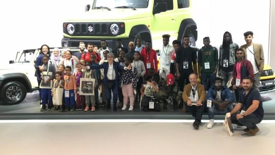 100 enfants en visite VIP au Mondial de l'Auto!