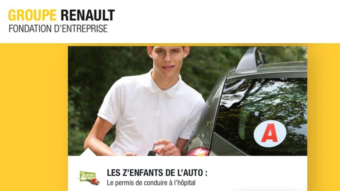 La Fondation Groupe Renault soutient Les Z'enfants de l'Auto pour « Le Permis de Conduire à l'Hôpital »