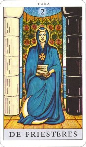 Tarotkaart 03 De Priesteres 2 grote Arcana De Tarot in de herstelde orde