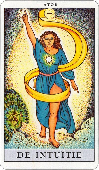 Tarotkaart 06 De Intuitie Min grote Arcana De Tarot in de herstelde orde