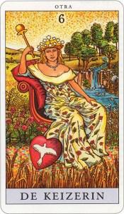 Tarotkaart 08 De Keizerin 6 grote Arcana De Tarot in de herstelde orde