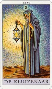 Tarotkaart 10 De Kluizenaar 8 grote Arcana De Tarot in de herstelde orde
