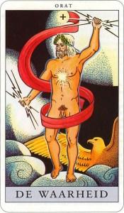 Tarotkaart 18 De Waarheid Plus grote Arcana De Tarot in de herstelde orde
