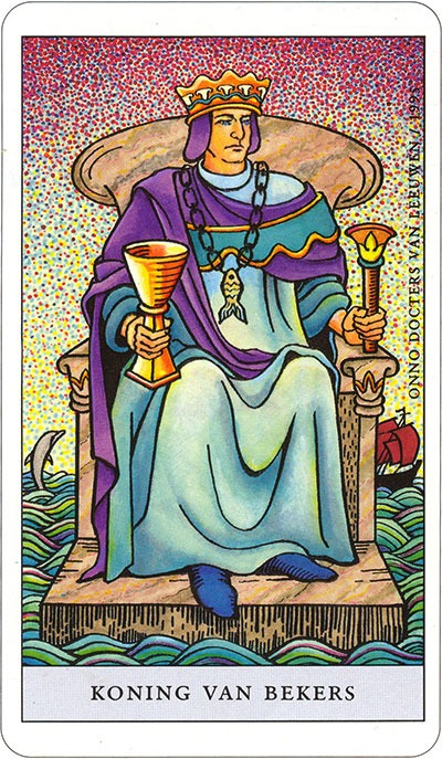 Tarotkaart 53 Bekers Koning